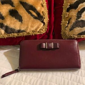Coach long wallet plum color